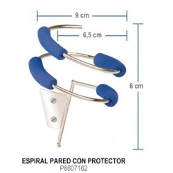 Soporte secador espiral con protector