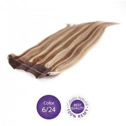 Extensiones Flip hair Color 6/24 Castaño claro y rubio claro