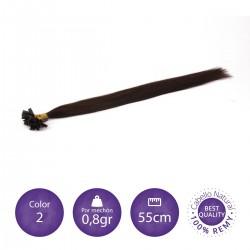 50 mechones keratina 0'8 gr/mechón 55 cm largo COLOR 2