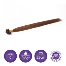 50 mechones keratina 0'8 gr/mechón 55 cm largo COLOR 6