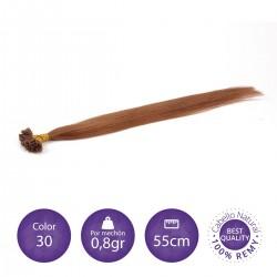 50 mechones keratina 0'8 gr/mechón 55 cm largo COLOR 30