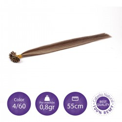 50 mechones de keratina 0'8gr/mechón 55cm largo COLOR 4/613