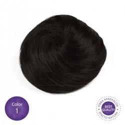 Color 1 Negro - Moño postizo simple
