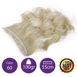 Extensiones de fibra resistentes al calor Cabello Rizado Color nº60 (Rubio platino ) 100gr, 55cm.