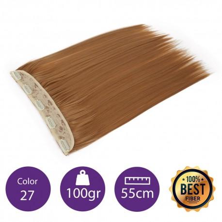 Extensiones de fibra resistentes al calor Cabello liso Color nº27 (Rubio dorado) 100gr, 55cm.
