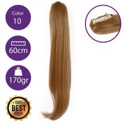 Coletero de fibra resistente al calor, cabello liso 60 cm largo 170gr COLOR 10 (Rubio Medio )