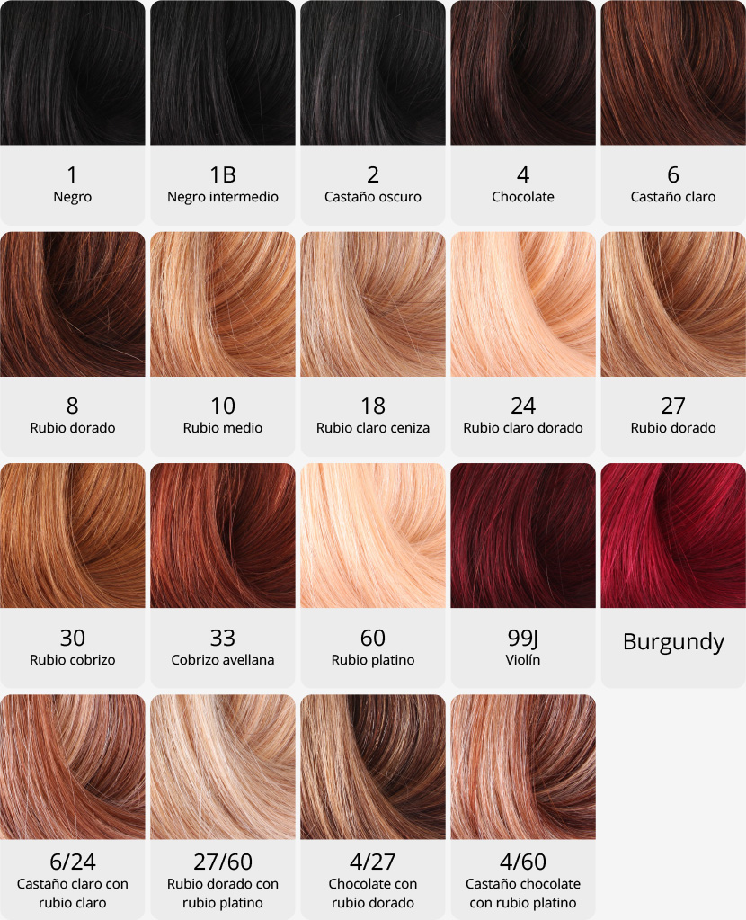Gama de colores del pelo