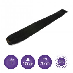 Cabello cosido 70cm, 100gr Color 1