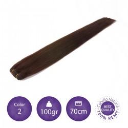 Cabello cosido 70cm, 100gr Color 2