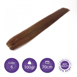 Cabello cosido 70cm, 100gr Color 6