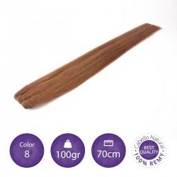 Cabello cosido 70cm, 100gr Color 8