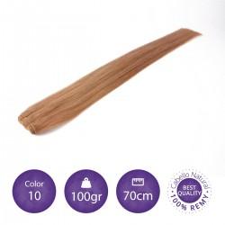 Cabello cosido 70cm, 100gr Color 10
