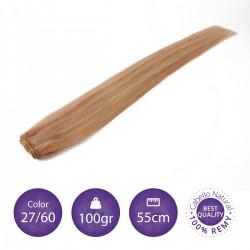 Cabello cosido 70cm, 100gr Color 27/60