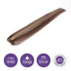 Cabello cosido 70cm, 100gr Color 4/60