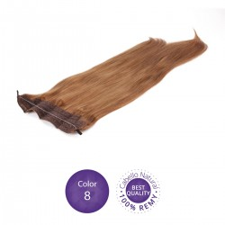 Color 8 Rubio Dorado - Extensiones Flip Hair lisas 55cm largo 23cm ancho
