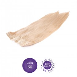 Color 60 Rubio Platino - Extensiones Flip Hair lisas 55cm largo 23cm ancho