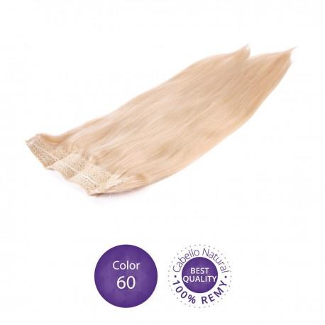 Extensiones Flip hair Color 60 Rubio platino