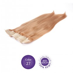 Color 27 Rubio Dorado - Extensiones Flip Hair lisas 55cm largo 23cm ancho