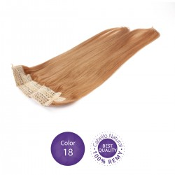 Color 18 Rubio Claro Dorado - Extensiones Flip Hair lisas 55cm largo 23cm ancho