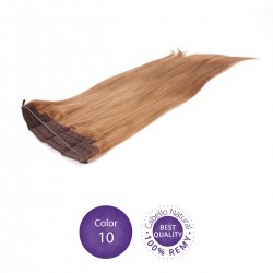 Color 10 Rubio Medio - Extensiones Flip Hair lisas 55cm largo 23cm ancho