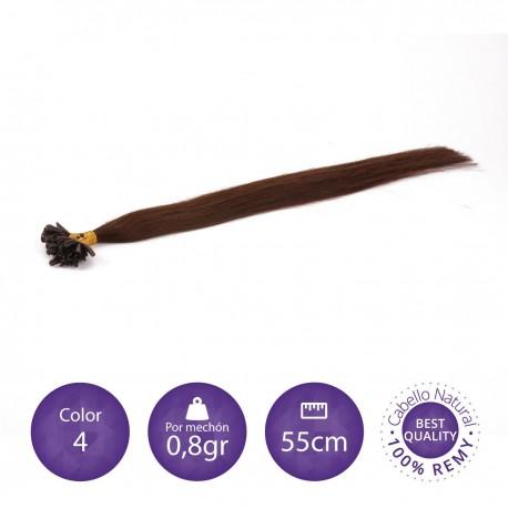 50 mechones keratina 0'8 gr/mechón 55 cm largo COLOR 4