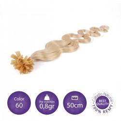 50 mechones keratina ONDULADA 0'8 gr/mechón 50 cm largo COLOR 613