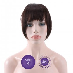 Color 4 Chocolate - Flequillo postizo cabello natural