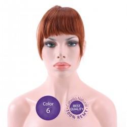 Color 6 Castaño Claro - Flequillo postizo cabello natural