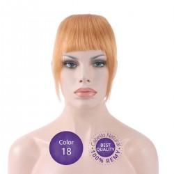 Color 18 Rubio Claro Ceniza - Flequillo postizo cabello natural