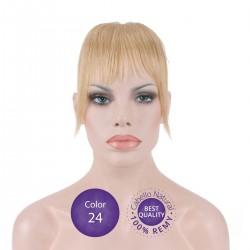 Color 24 Rubio Claro Dorado - Flequillo postizo cabello natural