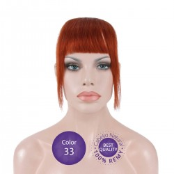 Color 33 Cobrizo Avellana - Flequillo postizo cabello natural