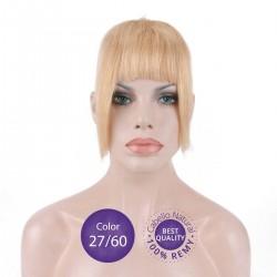 Color 27/60 Rubio Dorado con Rubio Platino - Flequillo postizo cabello natural