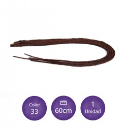 Rasta de fibra con punta de keratina de color blanco
