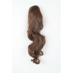 Coletero de fibra resistente al calor, cabello Rizado 55 cm largo 170gr COLOR 4 (Castaño)