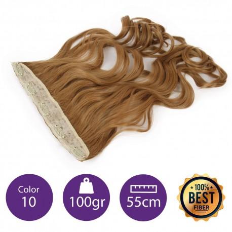 Extensiones de fibra resistentes al calor Cabello Rizado Color nº10 (Rubio medio) 100gr, 55cm