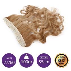 Extensiones de fibra resistentes al calor Cabello Rizado Color nº27/60 (Rubio dorado/Rubio platino ) 100gr, 55cm.