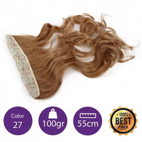 Extensiones de fibra resistentes al calor Cabello Rizado Color nº27 (Rubio Dorado ) 100gr, 55cm.