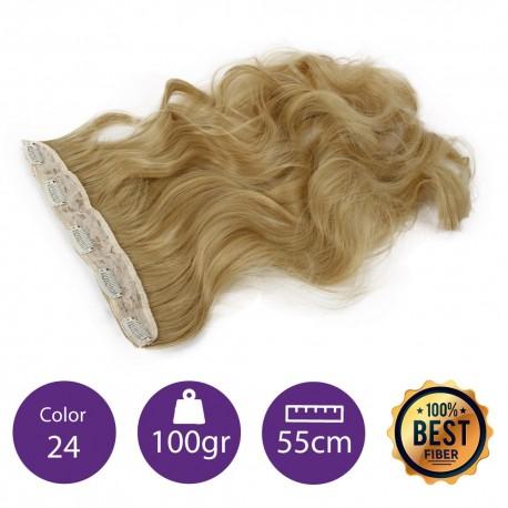 Extensiones de fibra resistentes al calor Cabello Rizado Color nº24 (Rubio claro dorado ) 100gr, 55cm.