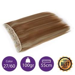 Extensiones de fibra resistentes al calor Cabello liso Color nº27/613 (Rubio dorado/ rubio platino) 100gr, 55cm.