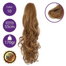 Coletero de fibra resistente al calor, cabello Rizado 55 cm largo 170gr COLOR 10 (Rubio Medio)