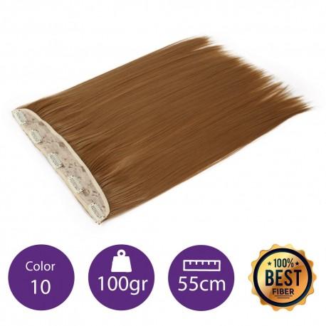 Extensiones de fibra resistentes al calor Cabello liso Color nº10 (Rubio medio) 100gr, 55cm