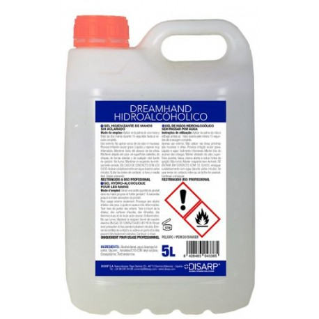 Gel alcohólico higienizante Kefus 5 litros