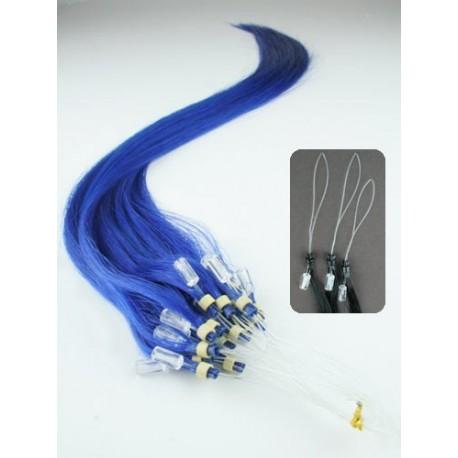 10 MECHONES MICRO-LOOP 0'5GR/MECHÓN 55 CM COLOR azul
